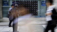 日経平均は4日ぶり反落、米中貿易戦争の警戒で2万2000円割れ