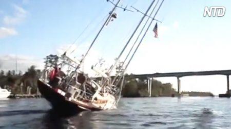 【高等数学】高さ24mのヨットが、高さ19.5mの橋の下を通るには?