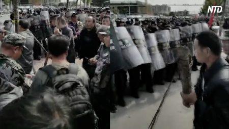 【動画ニュース】平度市の退役軍人デモがさらに激化 当局は武装警官を多数動員