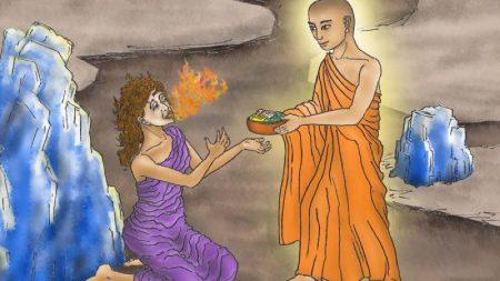 【仏教説話】餓鬼道に堕ちた母親を千里眼で見つけてしまった仏陀の弟子