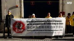 【動画ニュース】習近平主席のパリ訪問中 複数の団体が抗議