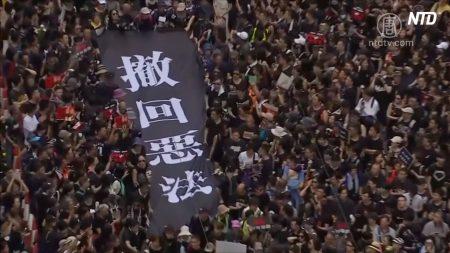 【動画ニュース】香港200万人の大規模デモ 中国メディアは沈黙