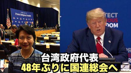 【動画ニュース】台湾政府代表が48年ぶりに国連総会へ 「非常に大きな外交的進展」