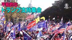ワシントンDCのトランプ支持集会に数十万人参加 過激派が支持者を襲撃