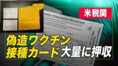 米税関 大量の偽造「ワクチン接種証明書」を押収